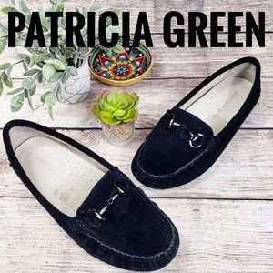 Patricia Green Driving Moccassin Loafer Black Sz 8